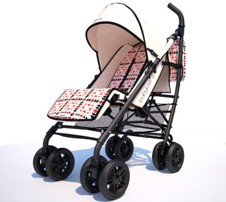 Cochecito para bebés de Ion Fiz for Babyluxe base marfil chasis negro