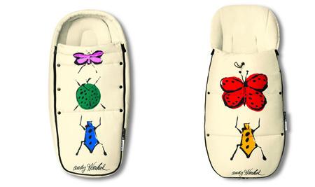 Colección de Otono Andy Warhol Bugaboo Saco de Silla y Bebe Bugaboo Happy Bugs-Blogmodabebe