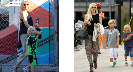 Gwen Stefani en la vuelta al cole