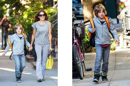 Sarah Jessica Parker y su hijo James en la vuelta al cole