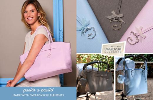 Pasito a Pasito nueva coleccion moda bebes OI 2013-fundas paseo y bolsos maternales Swarovski Elements