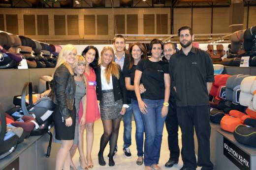 Con el equipo de Cybex en Puericultura Madrid