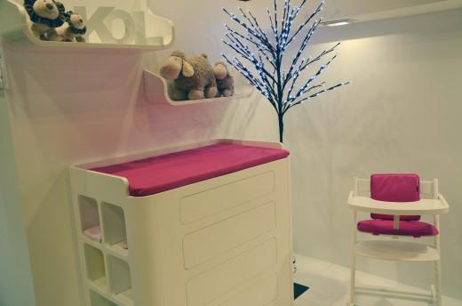 Mobiliario infantil Baby Essentials cambiador bebe y trona