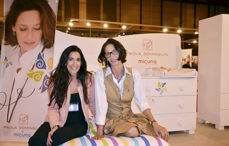 Puericultura Madrid 2013 con Paola Dominguin en el stand de Mi Cuna-Blogmodabebe