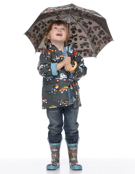 botas de agua con paraguas a juego