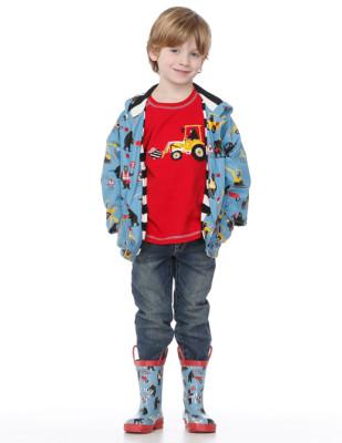 Moda infantil Hatley cubasquero paraguas y botas a juego_Blogmodabebe4