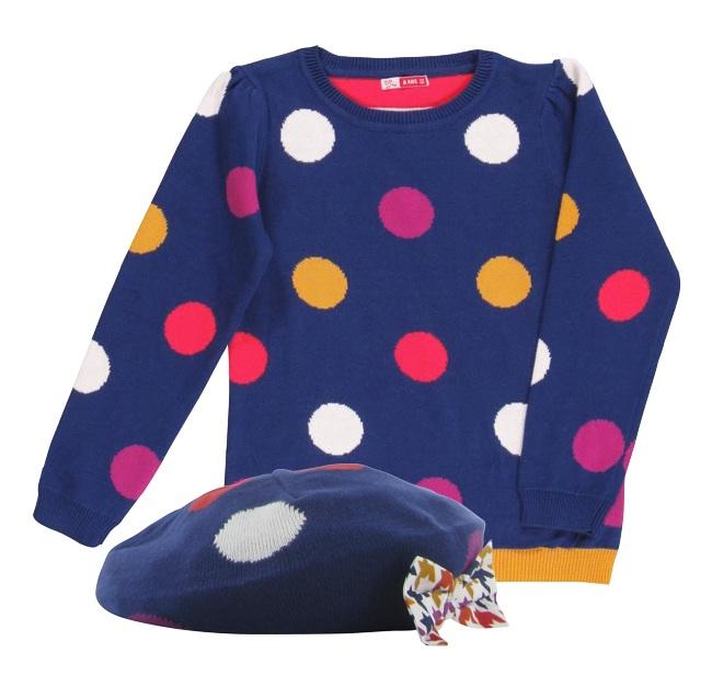 Conjunto Nina gorro y jersey Dpam