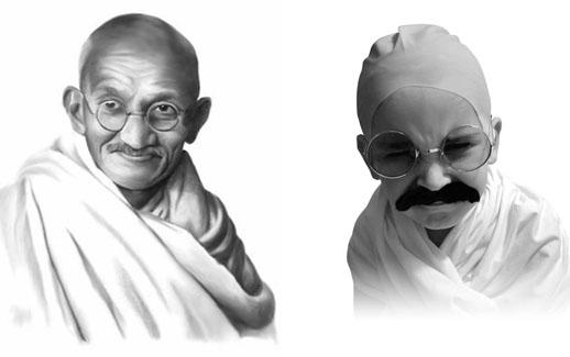 Gandhi y Jorge muy en su papel