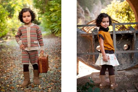 Moda infantil Perfect Days conjunto jacquard tierra-Blogmodabebe