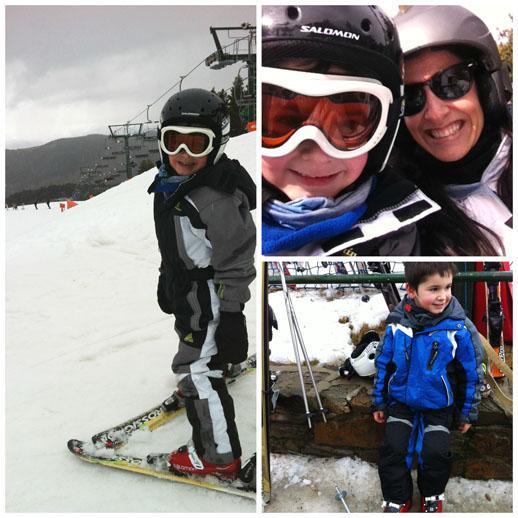 Vacaciones en la nieve de La Cerdanya-esquiando en la Molina 2