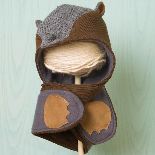 moda infantil Popelin Gorro bufanda topo