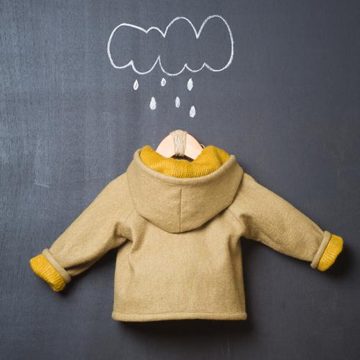 moda infantil Popelin abrigoreversible de lana y paño de fieltro