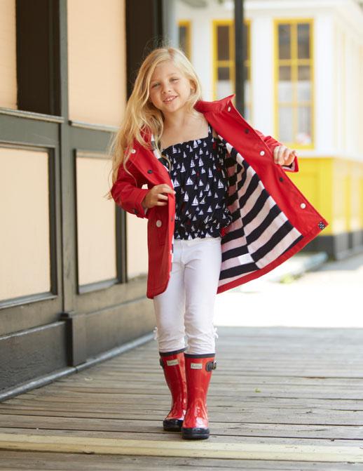Moda infantil Hatley ropa de lluvia, botas de agua, chubasqueros y paraguas12