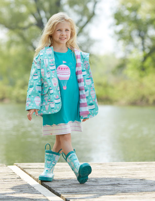 Moda infantil Hatley ropa de lluvia, botas de agua, chubasqueros y paraguas13