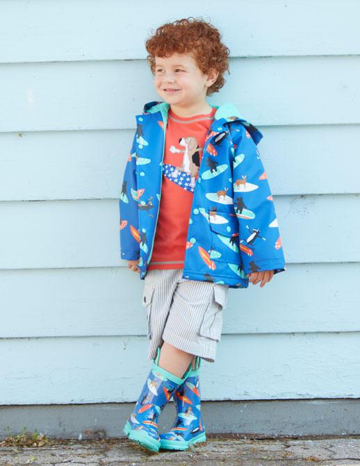 Moda infantil Hatley ropa de lluvia, botas de agua, chubasqueros y paraguas3