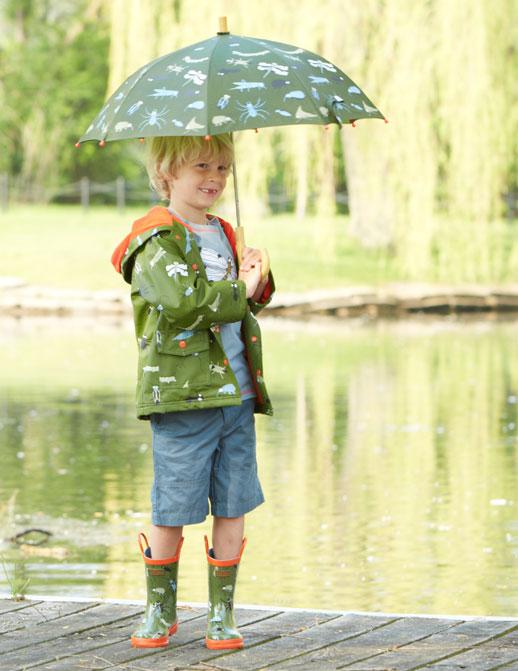 Moda infantil Hatley ropa de lluvia, botas de agua, chubasqueros y paraguas5