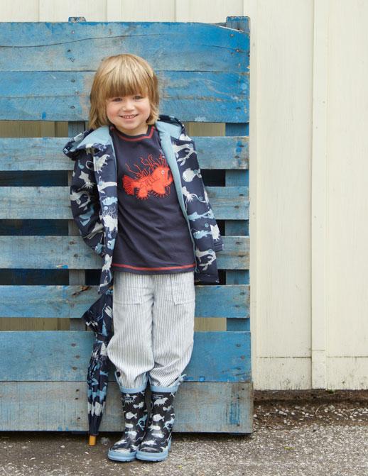 Moda infantil Hatley ropa de lluvia, botas de agua, chubasqueros y paraguas8