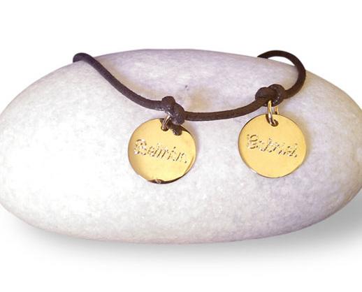 pulseras personalizadas de Sweet Memory dorada