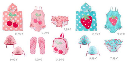 Bañadores y complementos niñas Zippy verano 2014_Blogmodabebe