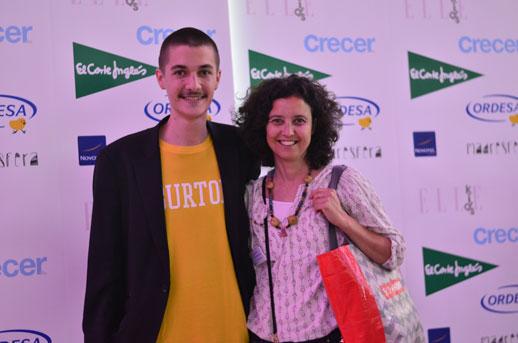 Hugo Salvador de Cybex y Cristina Barturone de Nikidom_Evento mamas blogueras Madresfera revista Elle