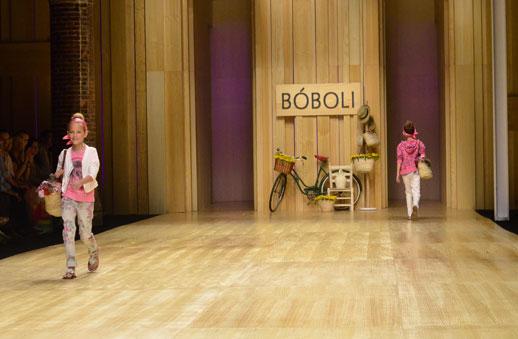 Desfile de Bóboli moda infantil en la 080 Barcelona Fashion pasarela de moda verano 2015-12