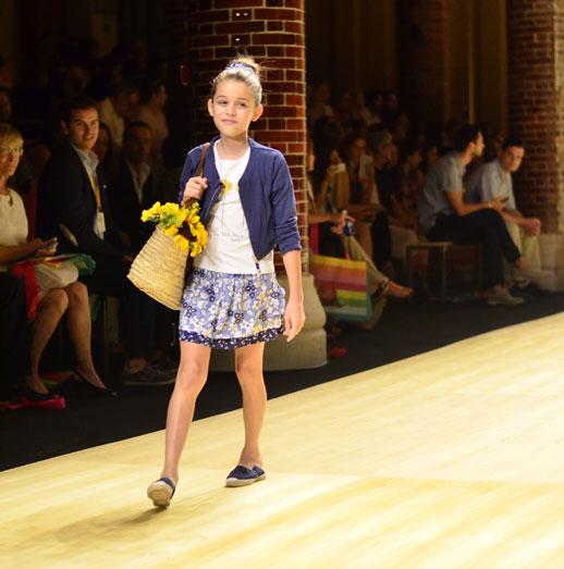 Desfile de Bóboli moda infantil en la 080 Barcelona Fashion pasarela de moda verano 2015-5