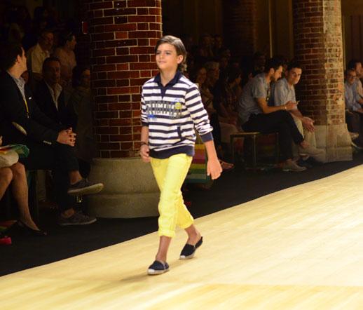 Desfile de Bóboli moda infantil en la 080 Barcelona Fashion pasarela de moda verano 2015-6