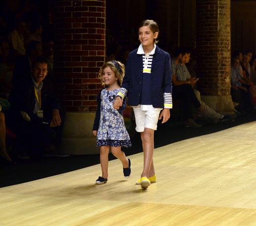 Desfile de Bóboli moda infantil en la 080 Barcelona Fashion pasarela de moda verano 2015-9