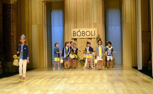 Desfile de Bóboli moda infantil en la 080 Barcelona Fashion pasarela de moda verano 2015