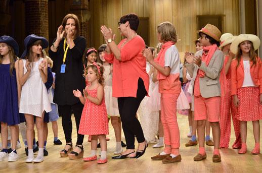 Desfile de Cóndor moda infantil en la 080 Barcelona Fashion pasarela de moda verano 2015-11