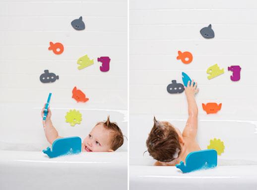 Figuritas decorativas para el baño infantil de Boon