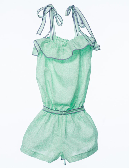 Moda infantil Bambino&Co-monoshort-cadiz-flor-verde-manzana Mi pequeño Lucas