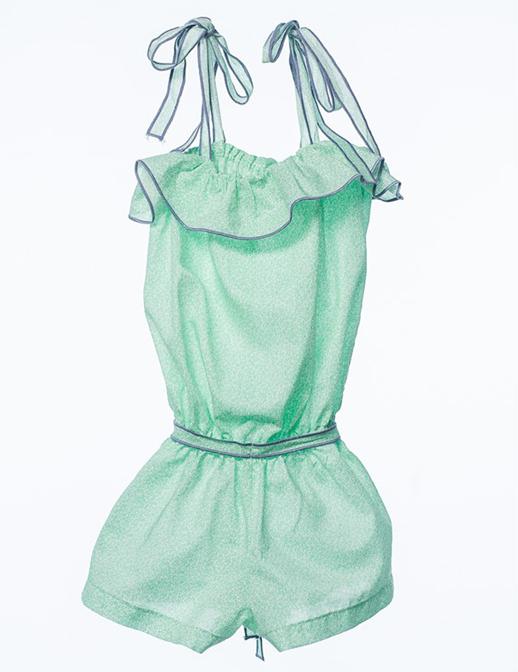 8803eb1ac Moda infantil Bambino Co-monoshort-cadiz-flor-verde-manzana Mi pequeño Lucas