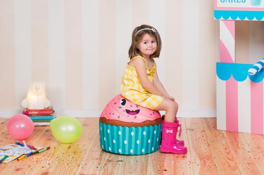 decoracion infantil puf cupcakekids