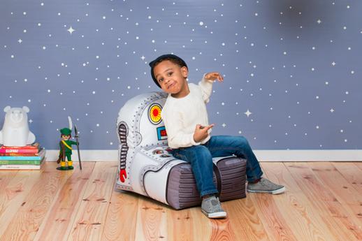decoracion infantil puf robot
