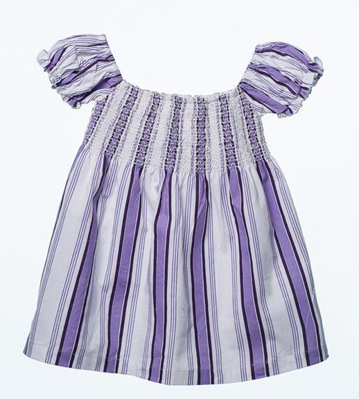 moda infantil Bambino & Co-vestido-rayas-moradas de OhSoleil