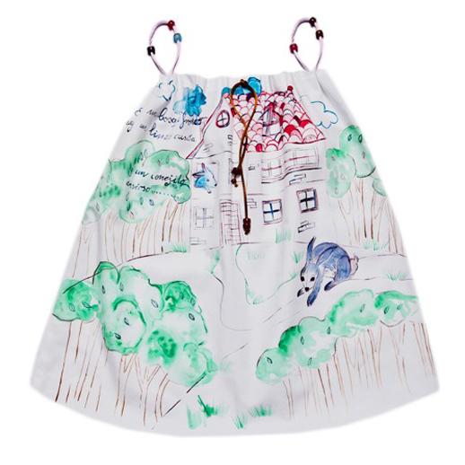 Moda infantil Le Petit Mammouth vestido bosque frondoso