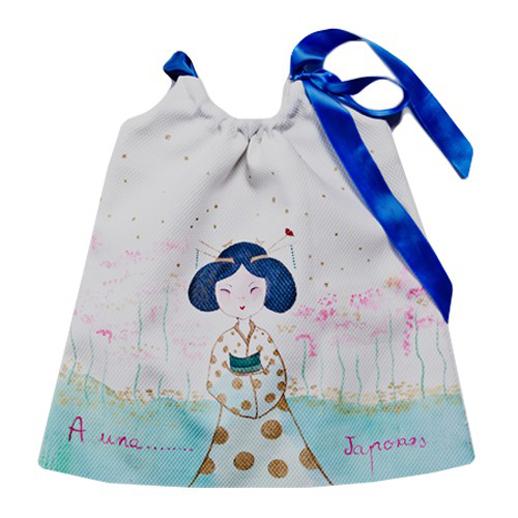 Moda infantil Le Petit Mammouth vestido japonesa