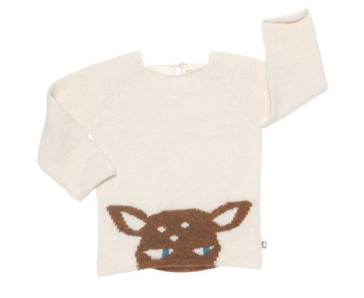 Moda infantil Oeuf NYC pullover-bambi-marfil