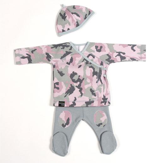 Walking Mum by Pasito a Pasito coleccion camouflag-Pijama-rosa-bebe