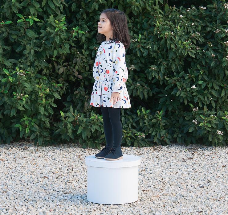 knot imprime arte en su coleccin de moda infantil