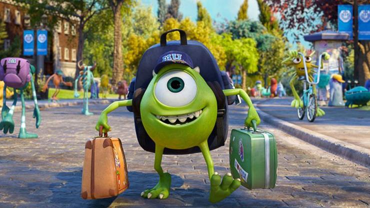 Still from Disney-Pixar animation Monsters University