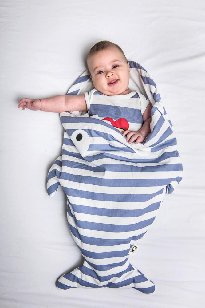 Baby Bites ORIGINAL Mantita RAYAS AZULES para hamaca Reversible Bebé eurocanpages Mantas y mantitas