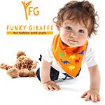 Baberos para bebes Funky Giraffe