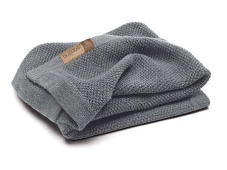 Bugaboo Bugaboo Wool Collection-manta lana merino gris melange