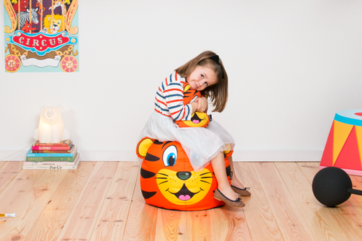 decoracion infantil puf tiger